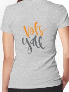Vols Y'all Women's Fitted V-Neck T-Shirt