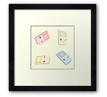 Game boy pattern Framed Print