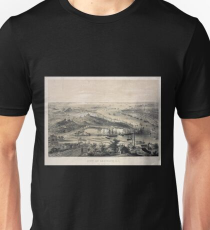 136 City of Brooklyn LI Taken from Rush Street Unisex T-Shirt
