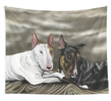 Lola and Freddie English Bull Terrier's  Wall Tapestry
