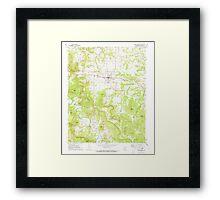 USGS TOPO Map Arkansas AR Green Forest 258605 1972 24000 Framed Print
