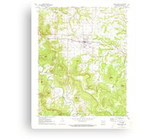 USGS TOPO Map Arkansas AR Green Forest 258605 1972 24000 Canvas Print