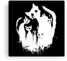Ghost cat Canvas Print