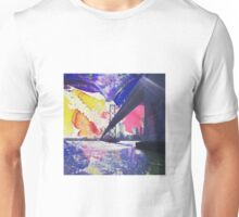 Watercolor Sky with Bay Bridge in San Francisco Unisex T-Shirt