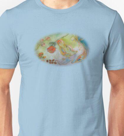Bird With A Rose Unisex T-Shirt