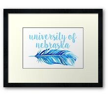 University of Nebraska Framed Print