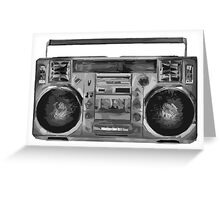 Simplistic Boom Box Greeting Card