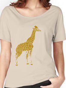 Implications of Giraffes - Yellow Women's Relaxed Fit T-Shirt