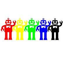 Robot Lives Matter Rainbow Photographic Print