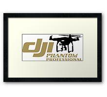 DJI Phantom Pilot UAV Drone Phantom Professional white Framed Print