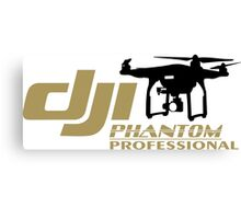 DJI Phantom Pilot UAV Drone Phantom Professional white Canvas Print