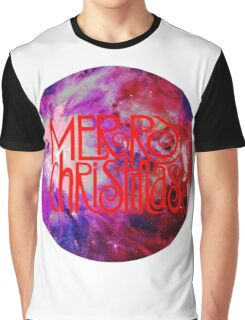 Merry Christmas nebula galaxy Graphic T-Shirt