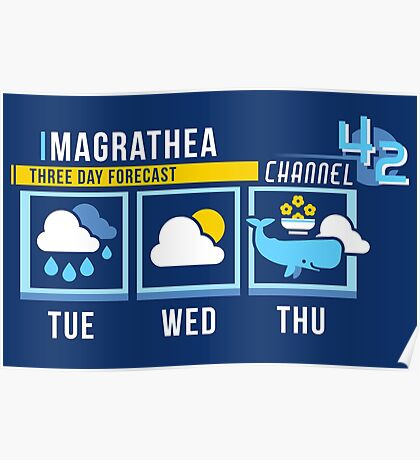 Magrathea 5-Day Forecast Poster