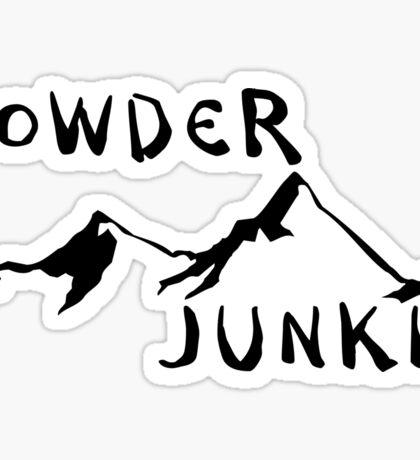 SKIING POWDER JUNKIE SKI SNOWBOARDING SNOW BOARD MOUNTAINS WINTER SPORTS Sticker