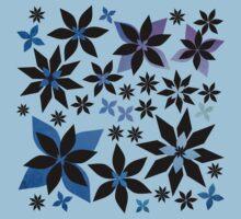 A Field of Midnight Flowers Print (Purple/Texture Version) Kids Tee