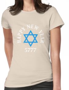 Jewish Happy New Year 5777  Womens Fitted T-Shirt