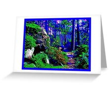 blue shadow in the forest Greeting Card