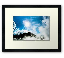 Geysers at Yellowstone Framed Print