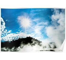 Geysers at Yellowstone Poster