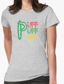 Puff Puff Pass (Weed, Cannabis, Marijuana) Womens Fitted T-Shirt