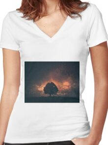 magic tree 2 Women's Fitted V-Neck T-Shirt