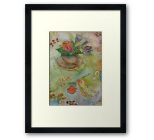 Bird With A Rose 2 Framed Print