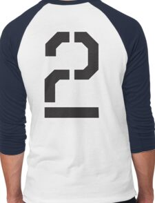 2, TWO, TEAM, SPORTS, STENCIL, NUMBER 2, SECOND, Twice, Duo, Couple, Competition Men's Baseball ¾ T-Shirt