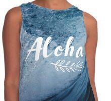 Waves of Aloha Contrast Tank