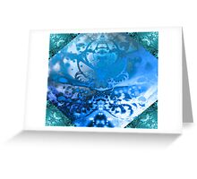 Meditating Entity (sapphire-sky blue) Greeting Card