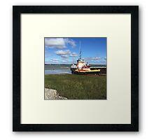 Landscape and boat Framed Print