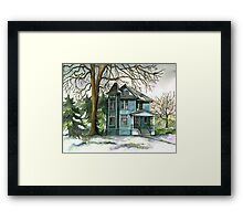House Under the Big Tree Framed Print