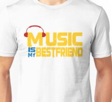 Music Is My Best Freind Alle Farben DJ House Techno Quotes Unisex T-Shirt