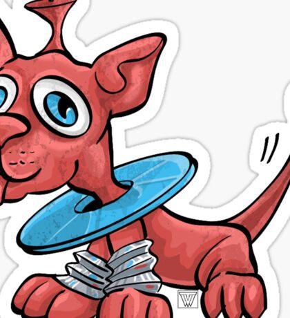 Max Martian the Dog Sticker