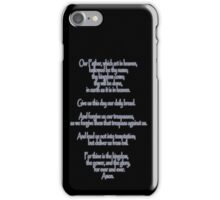Lord's Prayer, Our Father, Pater Noster, Christianity iPhone Case/Skin