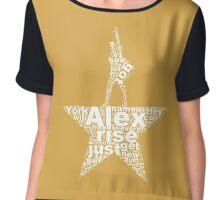 Alexander Hamilton an American Musical (White) Chiffon Top