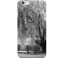 Weeping Willow in Black and White iPhone Case/Skin