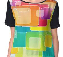 Colour Square Chiffon Top