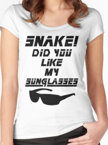 Snake! Did you like my Sunglasses (black) Women's Fitted Scoop T-Shirt