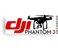DJI Phantom 3 Advance Pilot UAV Drone white Canvas Print