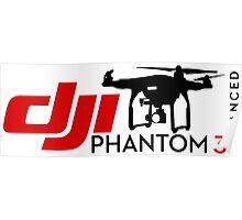 DJI Phantom 3 Advance Pilot UAV Drone white Poster