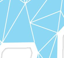 Blue Geometric Elephant Sticker