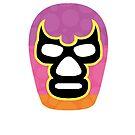 Mexican Wrestler Mask Lucha libre 2 by Edward Fielding