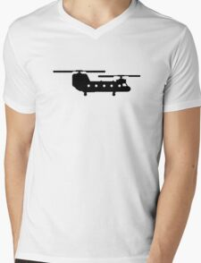 Army helicopter Mens V-Neck T-Shirt