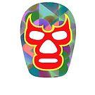 Mexican Wrestler Mask Lucha libre 3 by Edward Fielding
