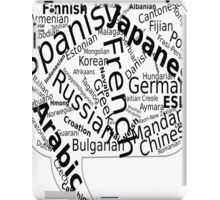 Country And Language Printed iPad Case/Skin
