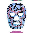 Mexican Wrestler Mask Lucha libre totem by Edward Fielding
