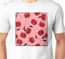 Red roses and stripes nº1 Unisex T-Shirt
