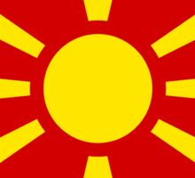 Macedonia Flag Map Sticker