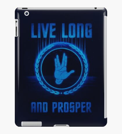 Live Long and Prosper - Spock's hand - Leonard Nimoy Geek Tribut iPad Case/Skin