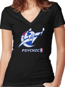 NPA Series - PSYCHIC TYPE Women's Fitted V-Neck T-Shirt